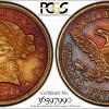 1850C TrueView AU53 $5 Gold