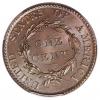 1820 Coronet Cent reverse